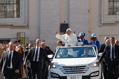Pope Francis Bergoglio the new Pope Mobile. Royalty Free Stock Photos