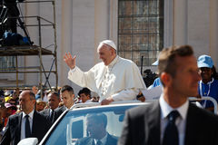 Pope Francis Bergoglio the new Pope Mobile. Stock Photo