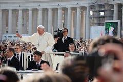 Pope Francis I blesses the faithful Stock Photo