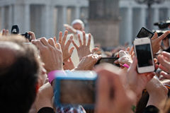 Pope Francis I blesses the faithful Royalty Free Stock Photo