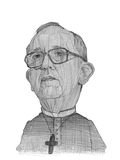 Pope Francis illustration sketch. For editorial use Royalty Free Stock Photo