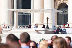 Pope Francis meeting in Vatican Royalty Free Stock Photography