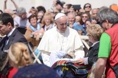 Pope Francis portret w watykanie Obrazy Royalty Free