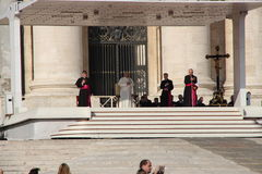 Pope Francis in Rome. Pope francis in an audience in rome in 8.october 2014th Royalty Free Stock Photography