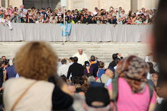 Pope Francis in Rome. Pope francis in an audience in rome in 8.october 2014th Royalty Free Stock Photo