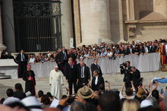 Pope Francis in Rome. Pope francis in an audience in rome in 8.october 2014th Royalty Free Stock Images