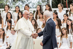 Pope Francis and Shimon Peres Israel Royalty Free Stock Photos