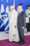 Pope Francis and Shimon Peres Israel Stock Photo