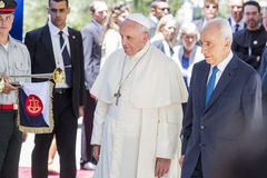 Pope Francis and Shimon Peres Israel Royalty Free Stock Photography