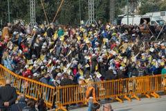 Pope Francis visit Naples - public event Stock Image