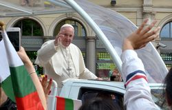 Pope Francis visited Sofia, Bulgaria on 5 May 2019. Pope Francis visited Sofia, Bulgaria royalty free stock photography