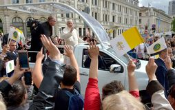 Pope Francis visited Sofia, Bulgaria on 5 May 2019. Pope Francis visited Sofia, Bulgaria stock photos