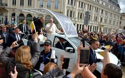 Pope Francis visited Sofia, Bulgaria on 5 May 2019. Pope Francis visited Sofia, Bulgaria royalty free stock photos