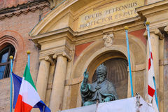 Pope Gregory XIII statue on facade of the Palazzo Comunale Stock Photos