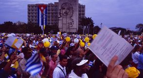 Pope-Visit in Havanna: Masses of peoples on Plaza de Revolucioin royalty free stock image