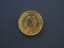 Pope John Paul II 50 cents coin Royalty Free Stock Photography