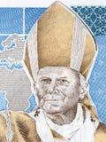 Pope John Paul II portrait. From Polish money