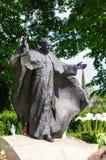 Pope John Paul II sculpture. Sculpture of pope John Paul II in Poznan, Poland Stock Photography