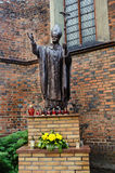 Pope John Paul II statue Stock Images