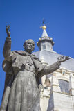 Pope John Paul II Statue. At Almudena Cathedral (Madrid, Spain Royalty Free Stock Photos