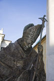Pope John Paul II statue Royalty Free Stock Photo