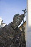 Pope John Paul II statue. In Chiavari Italy royalty free stock photo