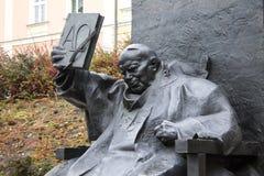 Pope John Paul II statue Stock Photo