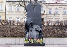 Pope John Paul II statue Stock Image