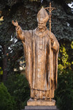 Pope John Paul II statue Royalty Free Stock Image
