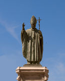 Pope- John Paul Iistatue. Spanien. Jerez. Lizenzfreie Stockfotografie