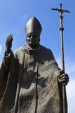 Pope- John Paul Iistatue in Suwalki - Polen Stockfotos