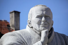 Pope John Paul statue Royalty Free Stock Photography