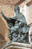 Pope Julius III. Bronze statue of Pope Julius III in Perugia Stock Photography