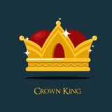 Pope or king crown or tiara. Prince or princess, queen crown icon, heraldic royalty symbol of wealth. For game award and old medieval or historical theme, game Royalty Free Stock Photography