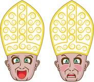 Pope Manga Cartoon Face Royalty Free Stock Photo
