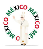 Pope mexico. Visit of the Christian pope to M�xico Royalty Free Stock Photography