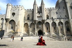 Pope Palace in Avignon Stock Photography