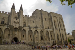 Pope palace in Avignon Stock Images