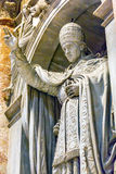 Pope Papal Statue Saint Peter`s Basilica Vatican Rome Italy. Pope Papal Blessing Sculpture Statue Saint Peter`s Basilica Vatican Rome Italy stock photo
