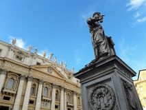 Pope Pius IX in St. Peter& x27;s Square Royalty Free Stock Images