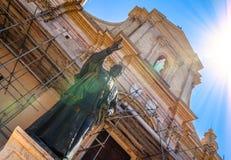 Pope Pius IX statua Zdjęcia Stock