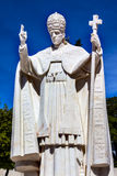 Pope Pius XII Statue Basilica of Lady of Rosary Fatima Portugal Royalty Free Stock Image