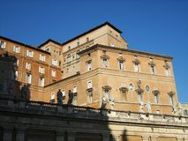 The pope residence. At vatican city royalty free stock image