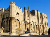 Pope's Palace. Mighty Popes Palace, Avignon, France Royalty Free Stock Images