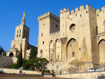 Pope's Palace. Popes Palace and Cathedral, Avignon, France Stock Photo