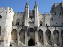 Pope's palace in Avignon Stock Images