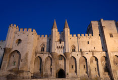 Pope's palace in Avignon Fance Royalty Free Stock Photos