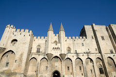 Pope's palace in Avignon, France Royalty Free Stock Photo