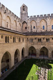 Pope`s Palace Courtyard, Avignon Stock Photo