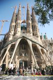 Pope's visit Sagrada Familia royalty free stock photos